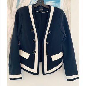 Blazer Jacket Black White Elegant Professional
